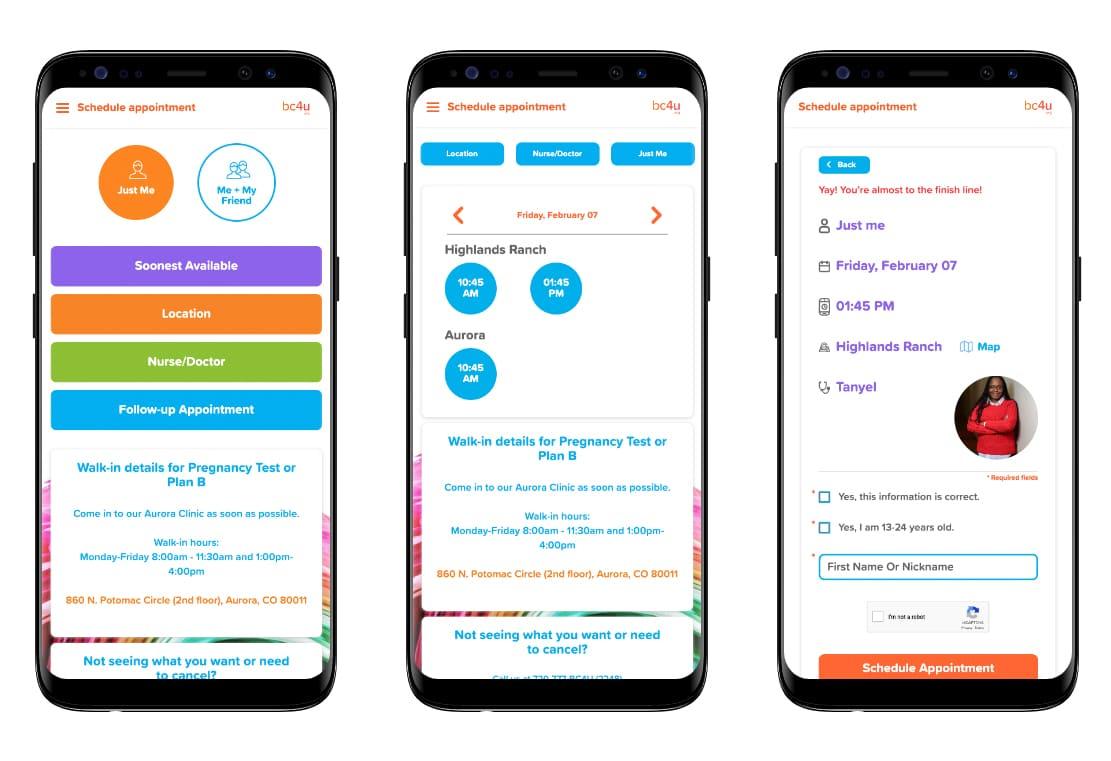 bc4u scheduling app